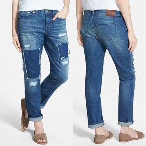 Madewell Patched Up Slim Boyfriend Jeans NWOT